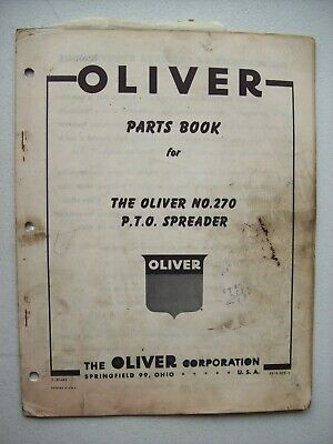 Original Oliver 270 Pto Spreader Parts Book Manual