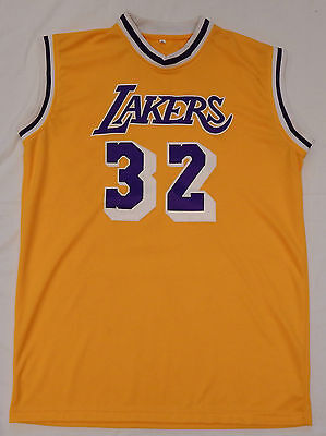 f70f64643ef Magic Johnson #32 Signed Autographed on L A Lakers Basketball Jersey  PSA/DNA coa