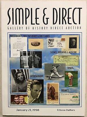 SIMPLE & DIRECT 1998 CATALOG HISTORICAL, ENTERTAINMENT ICONS PLUS