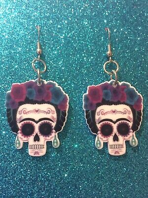 Day Of The Dead Dangle Earrings, - Day Of The Dead Jewelry
