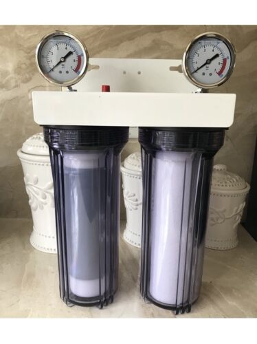 """2 Stage 10"""" Whole house water filter Sediment Carbon RV.WELL"""