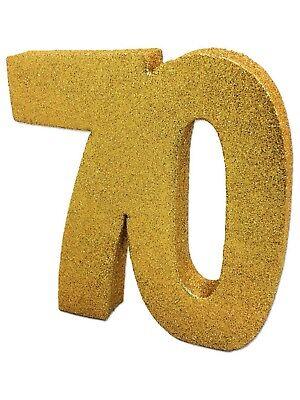 Gold Glitter 70th Birthday/Anniversary Celebration Centrepiece Table Decoration](70th Birthday Table Decorations)
