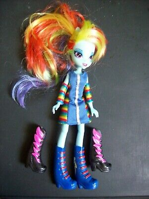 """Rainbow Dash Dress Up Deluxe Edition My Little Pony Equestria Girls 9"""" Inch Doll"""