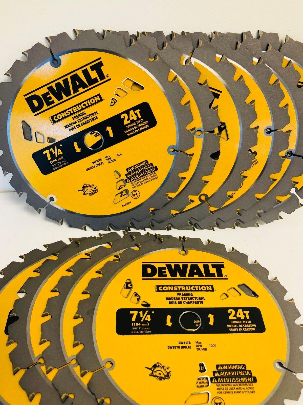 7 1/4 NEW More Powerful Framing Saw Carbide Circular Saw Bl