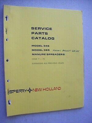 Original New Holland 346 365 Manure Spreader Parts Catalog Manual 1975