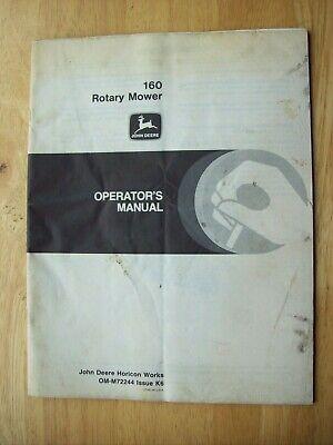 Original John Deere 160 Rotary Mower Operators Manual Om-m72244 K6