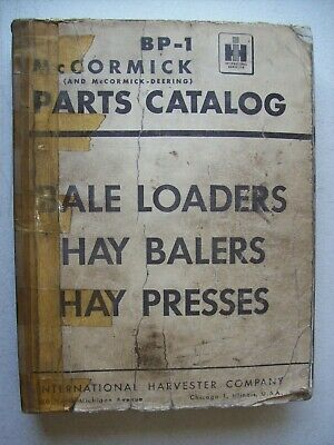 Original International ~ Bale Loaders Hay Balers ~ Parts Catalog Manual BP-1