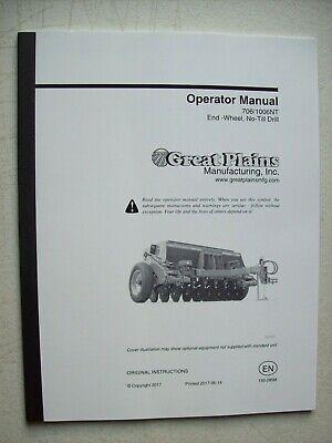 Original Great Plains 7061006nt End Wheel No Till Drill Operator Manual