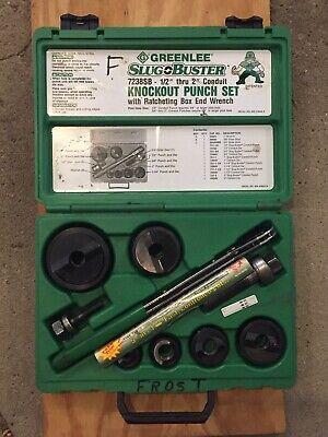 Greenlee 7238sb Slug Buster Knockout Punch Set 12 - 2 Nice  1 Saw Blade