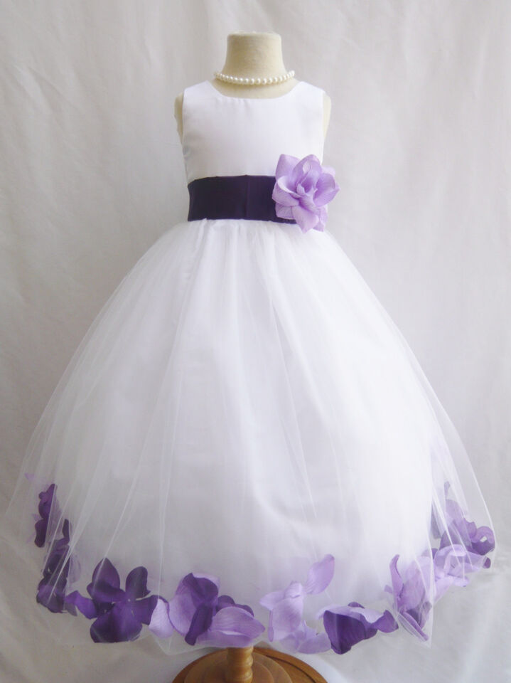 Flower Girl Dresses In Purple And White 97