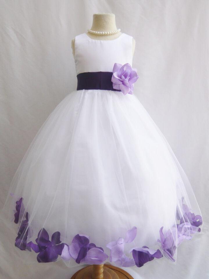Lilac dark purple lapis eggplant infant toddler teen flower girl dress