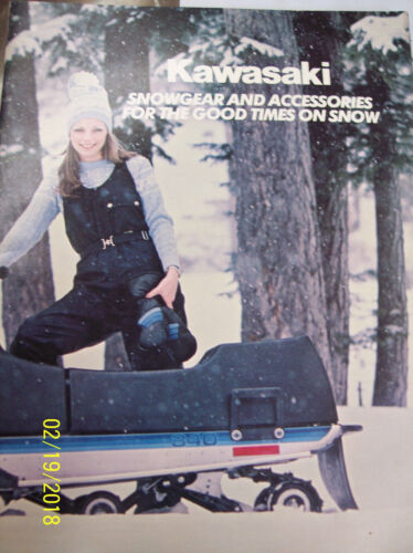 1980-89 kawasaki Snowgear and accessories for the good times on snow
