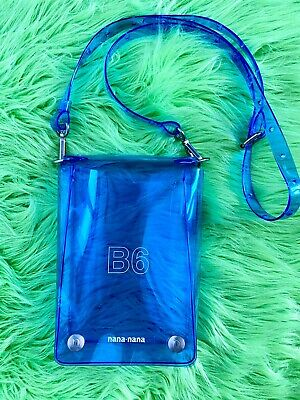 Nana Nana B6 Blue Transparent PVC Bag Clear W/ Strap Crossbody Side Bag