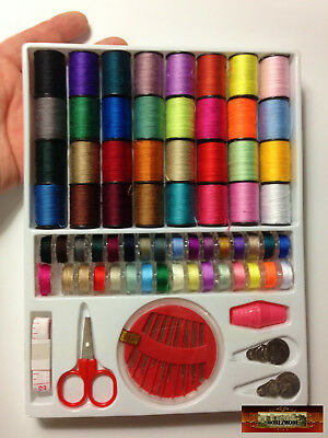 M01073 MOREZMORE 64 Spools Thread Set + Needles Sewing Kit for Doll Clothes A60