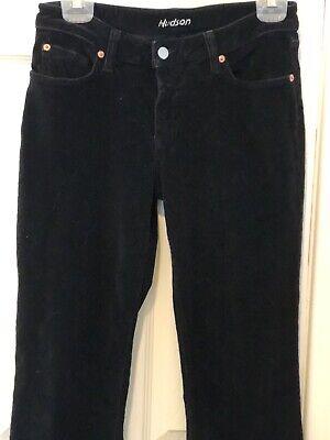 Hudson Black Stretch Corduroy Jeans Boot Cut Sz 29