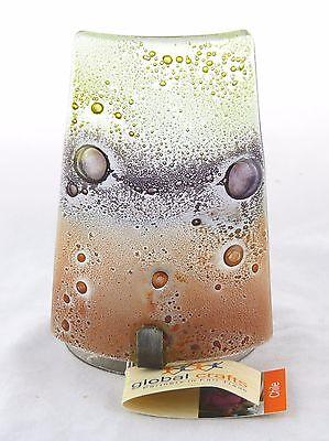 Earth Brown Reclaimed Glass Candle Holder Global Crafts NEW votive handmade tea - Glass Votives