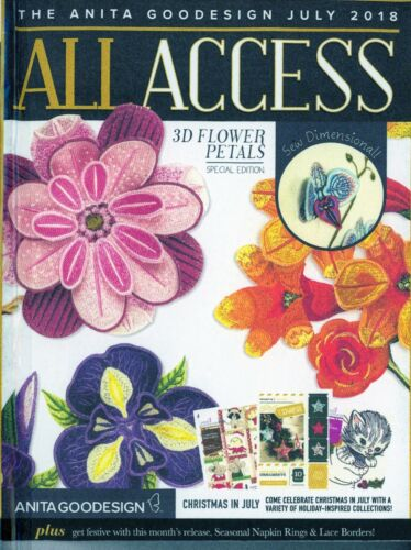 All Access VIP JULY 2018 Anita Goodesign Machine Embroidery Designs CD