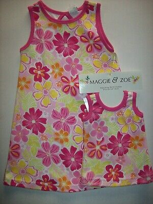Maggie & Zoe Dress Girls 3Toddler Matching Doll Dress Floral Shift NWT