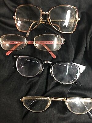 LOT of 14- misc Vintage EYEGLASSES, CASES Versace Gucci, BCBG Arden RayBan AS IS