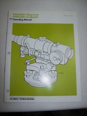 Brunson Ke Cubic Precision 71-3010 Paragon Tilting Level Users Manual
