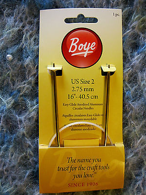 Boye Size 2 16 Inch Circular Knitting Needle