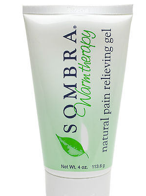 2 -4 Oz.tubes Of Sombra Warm Therapy Pain Relieving Gel (2 Pack) (free Shipping)