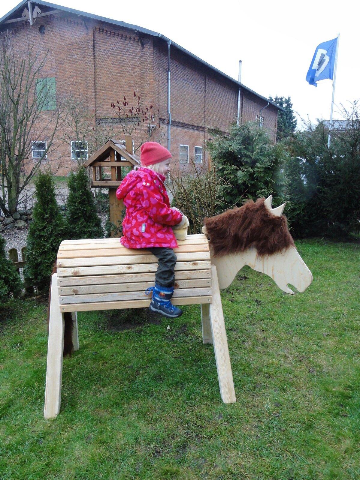 holzpferd voltigierpferd mit beweglichem kopf ca 116cm. Black Bedroom Furniture Sets. Home Design Ideas