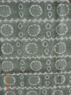 "5 yards Lee Jofa ""Osborne"" Green Bold Block Print Linen Fabric,New lower Price"