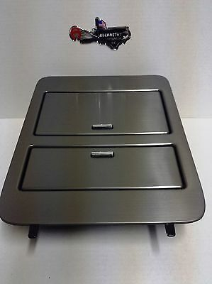 23164630 Brushed Metal Console Cup Holder Storage Full Size Gm Trucks   Suvs