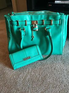 Green Fiorelli Purse and Matching Wallet