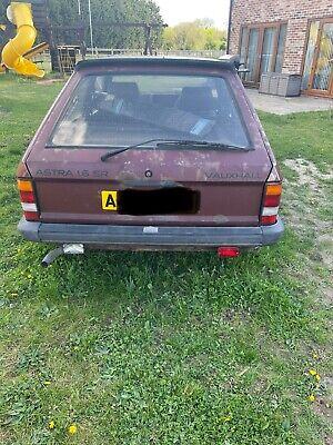 MK1 Vauxhall Astra 1.6SR A reg. non runner spares or repair