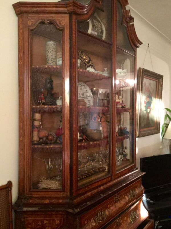 Antique  Dutch Marquetry Cabinet 88475