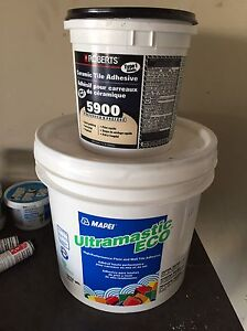 Ceramic tile adhesive- mastic wall and floor tile adhesive