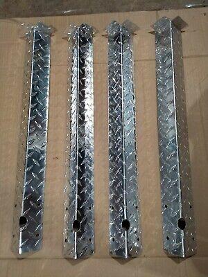Diamond Plate Tabbed Corner Guards Lot Of 4 25 X 4 2 Per Side W 1 Tab
