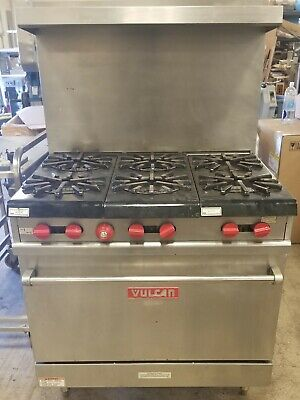 Used Vulcan Stainless Steel 36 Professional Gas Range Priced To Sell At 699.00