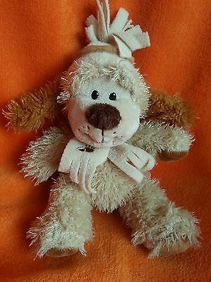 """Brown Sugar Beige Brown Puppy Dog Soft Toy In Scarf 10"""""""