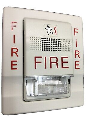 Edwardsest G1f-hdvm Genesis Fire Alarm Horn Strobe Wall Mount Wbracket White