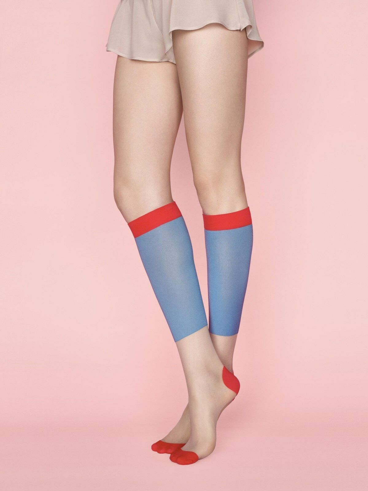 5f9765b99f Fiore Golden Line Game 1 20 Denier Patterned Knee Highs Hosiery FREE  SHIPPING фото