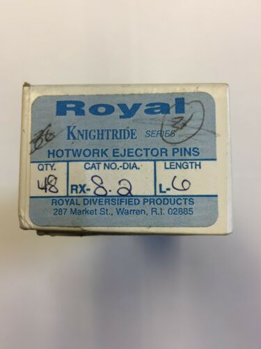 ROYAL RX-8-2-L6 RX KNIGHTRIDE SERIES H-13 Hotwork Ejector Pin USA MADE