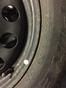 4 winter Pirelli 175/65/15 on rims 4x100  Kitchener / Waterloo Kitchener Area image 3