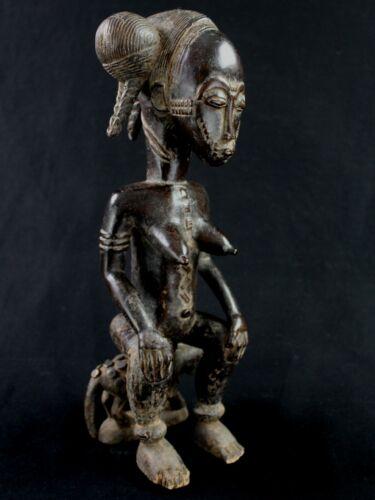 Art African Arts First - Remarkable Statue Baoulé Ball Akan Wooden 38 CMS