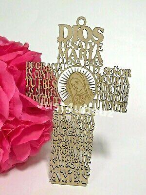 1-Catholic Wood Cross Crucifix Wall 7'' Hanging Our Lady Guadalupe Jesus - Prayer Cross