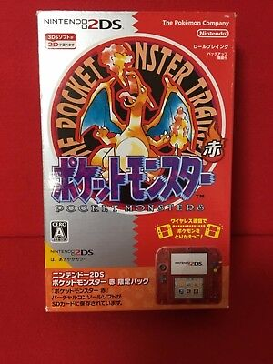 """USED Nintendo 2DS """"Pokemon Red"""" limited pack F/S From Japan"""