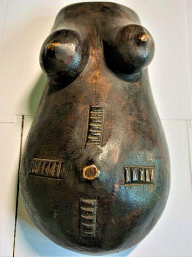 Makonde Tribal Pregnant Belly Fertility Mask - Tanzania