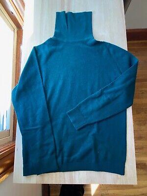 Ballantyne Green Cashmere Sweater MEDIUM Scottish Vintage