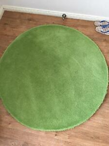 Round Green Rug - 110 cm diameter - 100% wool Botany Botany Bay Area Preview