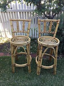 Cane chair and bar stools Glenelg North Holdfast Bay Preview