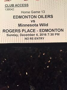 Oilers tickets against the wild!