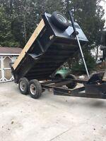 Dump trailer - Dump runs.
