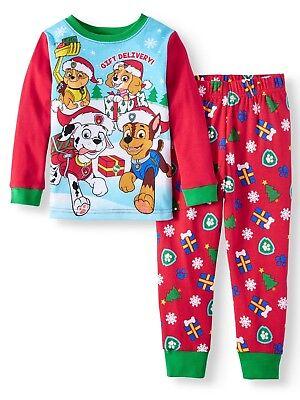 New Paw Patrol Christmas holiday Toddler boys pajamas 2t 3t 4t 5t chase and - Holiday Toddler Pajamas